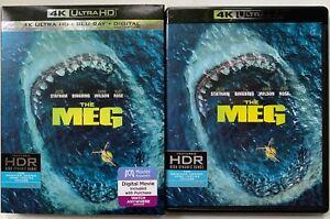 THE-MEG-4K-ULTRA-HD-BLU-RAY-2-DISC-SET-SLIPCOVER-SLEEVE-FREE-WORLD-WIDE-SHIPIN
