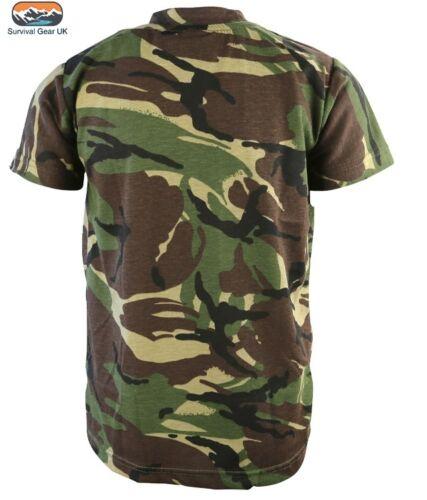 Bambini Stile Militare Cotone T-Shirt DPM Mimetico Cadet Training Airsoft Ragazzi KOMBAT