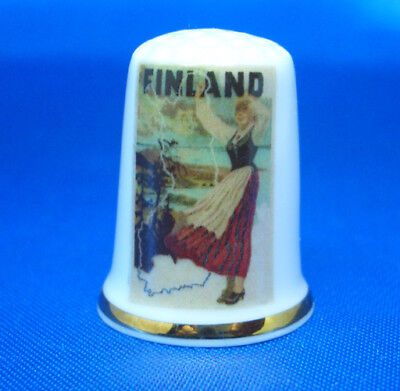 Travel Poster Budapest Birchcroft Porcelain China Collectable Thimble Free Box