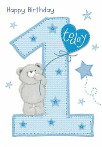Happy 1st Birthday Boy.Details About Happy 1st Birthday Baby Boy Greeting Card Piccadilly Cards 7 X 5 Inches