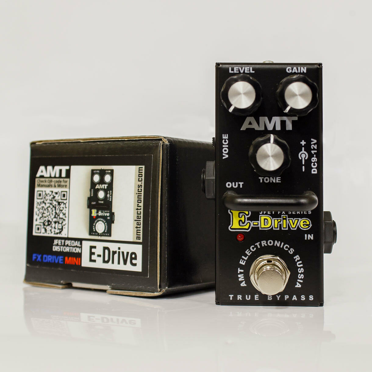 AMT Electronics E-Drive mini – JFET distortion pedal