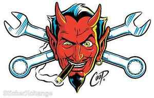 Wrench-Devil-Head-STICKER-Decal-Coop-CP60-Rare-First-Printing-Roth-LARGE-SIZE