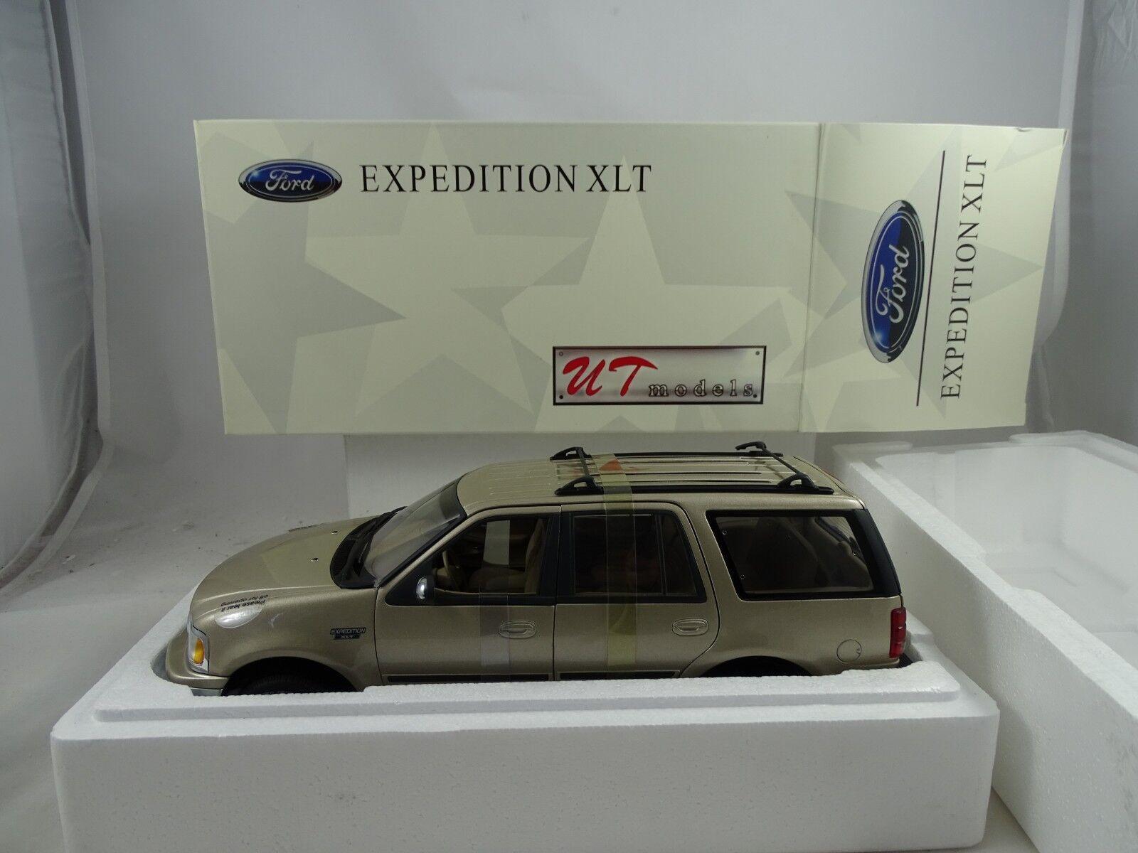 Ut / Autoart 22716 Ford Expedición Regular Xlt Metálico Oro - Rareza
