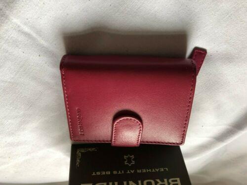Brunhide vera pelle morbida Borsetta rosa fucsia 204-300 RFID Nuovo E Inscatolato