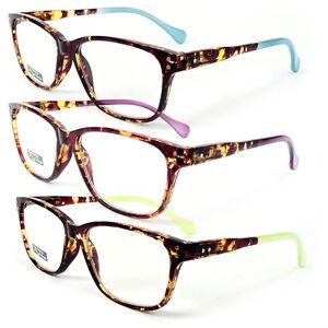 Tortoise Frame Fashion Glasses : Classic Tortoise Frame Reading Glasses Colorful Arms Retro ...