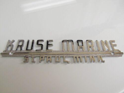 Paul Minnesota BOAT CHROME EMBLEM Dealer Plaque UNUSED Vintage KRUSE MARINE St
