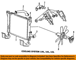ford oem 98 08 ranger radiator coolant lower hose 2l5z8286aa ebay 1999 Ford Ranger 3 0 Cooling System Diagram image is loading ford oem 98 08 ranger radiator coolant lower
