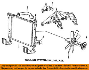 ford oem 98 08 ranger radiator coolant lower hose 2l5z8286aa ebay 2000 Ford Expedition Cooling System Diagram image is loading ford oem 98 08 ranger radiator coolant lower