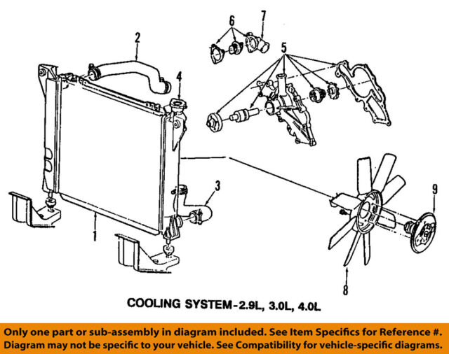 Ford OEM 92-97 Aerostar-engine Coolant Thermostat YU3Z8575BA for sale  online | eBay | Aerostar Engine Diagram |  | eBay