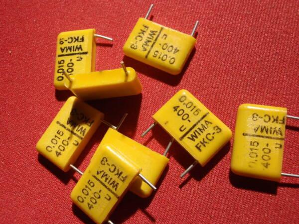 Pièces Et Composants Pour Enceintes Audio Condensateur Hochvolt 0,015µf = 15nf 400v = 20x12x4mm 8x 23652 Marque Populaire Véritable Wima