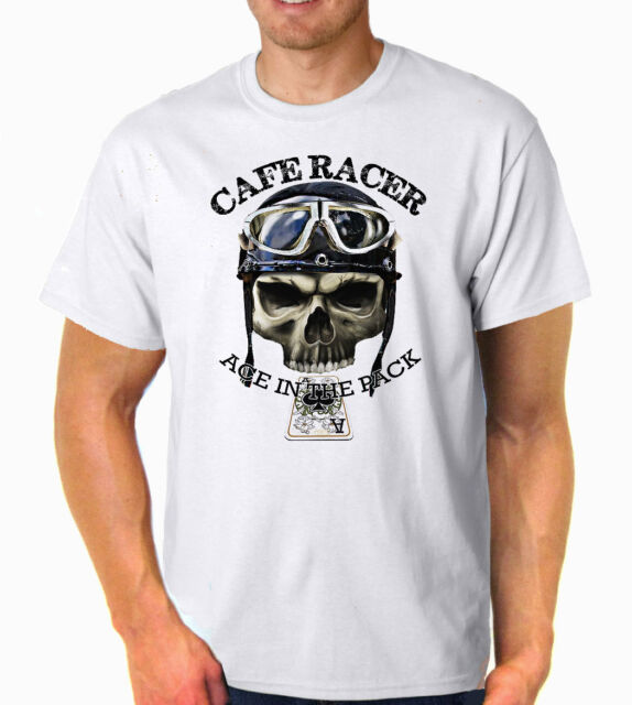 Cafe Racer Ace Classic Bikes  Vintage Retro Biker  Printed T-Shirt Ideal Gift