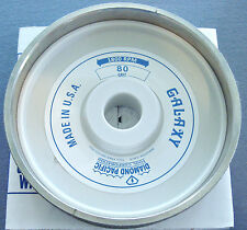 """rle 6"""" GALAXY DIAMOND PACIFIC GRINDING WHEEL, 80 GRIT, FOR GENIE OR CABKING"""