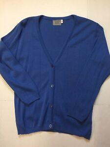 Delta-Airlines-Cardigan-Acrylic-Uniform-Stewardess-flight-attendant-LT-Blue