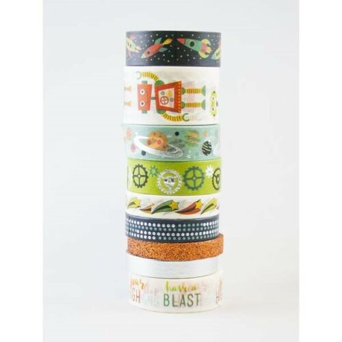 Outer Space Washi Tape Tube 9 Rolls Of Tape