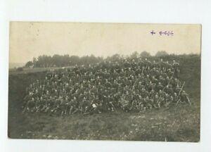 Vintage-RPPC-Group-Photo-Austrian-German-Soldiers-Military-Uniforms-WWI-1915