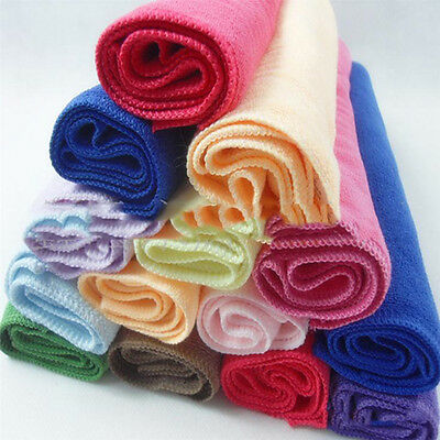 10pcs Nice Candy Color Practical Luxury Soft Fiber Cotton Face/Hand Cloth Towel