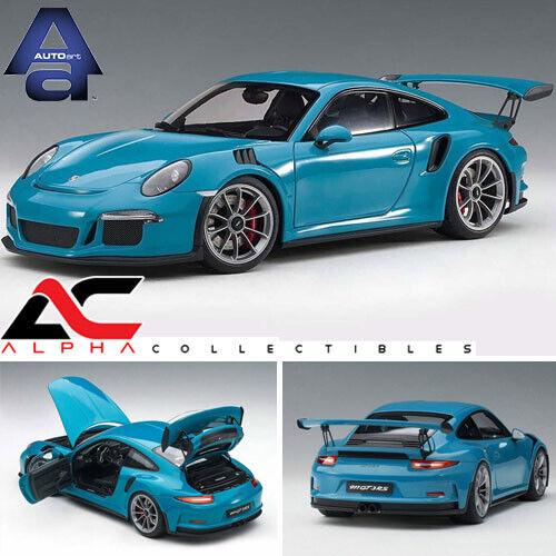 nueva marca Autoart 78167 1 18 Porsche 911 (991) (991) (991) GT3 RS (Miami Azul gris Oscuro Ruedas)  descuento de ventas