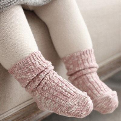Newborn Baby Socks Boy Girl Winter Knit Cotton Socks Infant Toddler Socks 0-4Y