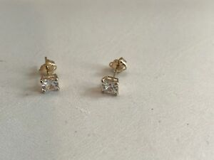 50-CARAT-14K-SOLID-YELLOW-GOLD-STUD-EARRINGS-W-PRINCESS-FLAWLESS-LAB-DIAMONDS