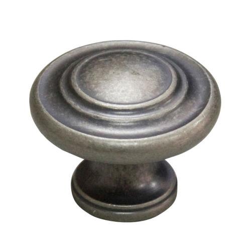 8 6 4 Antique Nickel Round Cabinet Knob /&10 Lots of 2