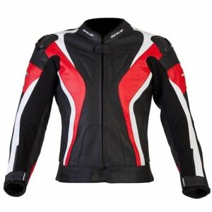 Spada-Curve-Leather-MOTORCYCLE-JACKET-SIZE-42-Sport-Race-motorcycle-Black-Red