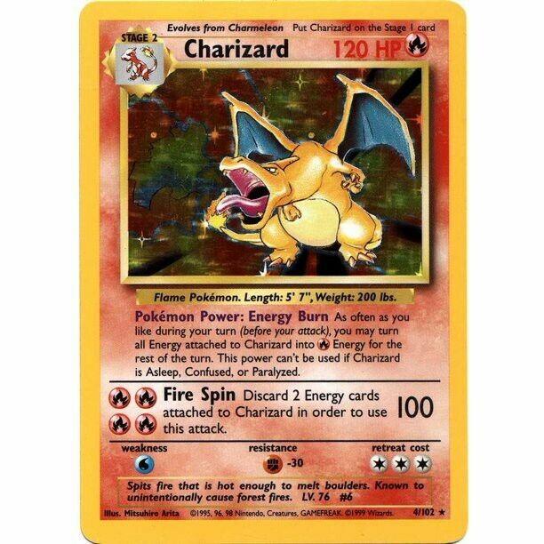 🔥 VINTAGE CHARIZARD CARD GUARANTEED 🔥 Lot of Old Original Pokémon Cards WOTC