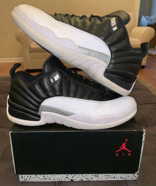 taniej wyprzedaż ze zniżką świetne oferty Nike Air Jordan 12 XII Playoff 9 Low White Black Red 308314-004 Retro 11 1  7 4 8