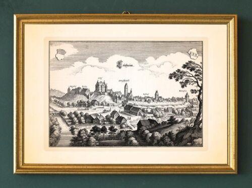 Veit SCHWABEN KUPFERSTICH MERIAN FAKSIMILE 108 Leipheim Kaltenstein Schloss St