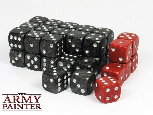 auch esercito wargaming dadi 6 30 nera e 6 dadi rosso cubo w6 6seitig 14mm 1a86e6