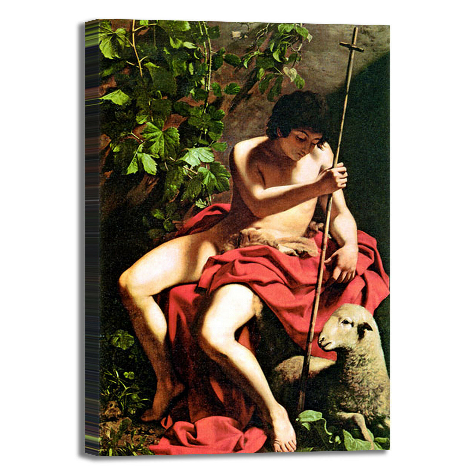 Caravaggio san Battista Giovanni Battista san quadro stampa tela dipinto telaio arRouge o casa 52dec4