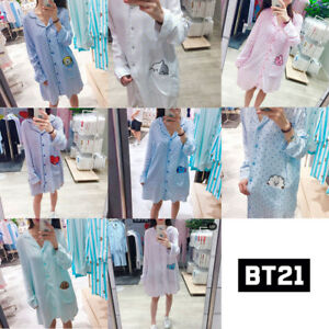 BTS-BT21-Official-Authentic-Goods-Pajamas-Sleepwear-S-XL-tracking-number