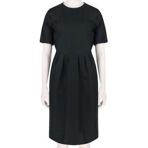 Dries-Van-Noten-Elegant-Black-Knee-Length-Sheath-Dress-FR36-UK8
