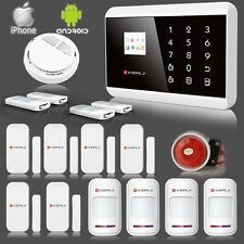 APP Remote Control Wireless & Wired GSM SMS PSTN Home House Fire Alarm System