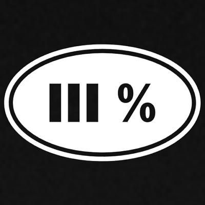 .223 2A Merica 3/% III 3 Percenter Sticker Decal Gun Rights Percent 1776 1789