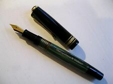 Alter Kolbenfüller, grün-schwarz marmoriert
