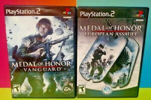 Medal-of-Honor-Vanguard-European-Assault-PS2-Playstation-2-Tested-Game-Lot