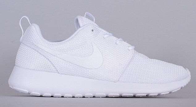 brand new f4aad e4ea8 WMNS Nike Roshe One Triple White Womens Running Shoes SNEAKERS 511882-111 8
