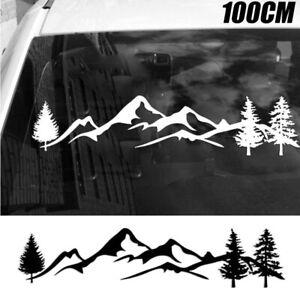 Tree-Mountain-Decal-Scene-Large-Northwest-100cm-Car-Sticker-Truck-RV-Offroad