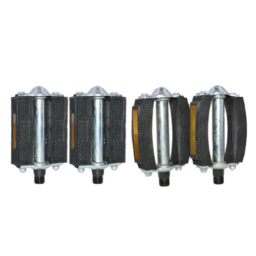 """9//16/"""" Block Pedals with Rubber Blocks for MTB Retro Bike Beach Cruiser Bicycle"""
