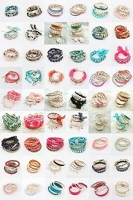 Wholesale Fashion Many Style To Choose Multilayer Lady Party Bracelet Bangle Set