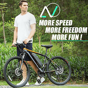 """Max 350W 26"""" Electric Bike Mountain Bicycle City Commutering Ebike 36V Battery"""