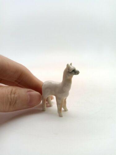 Tiny Lama Llama Figurine Ceramic Animal Miniature Statue CWO005