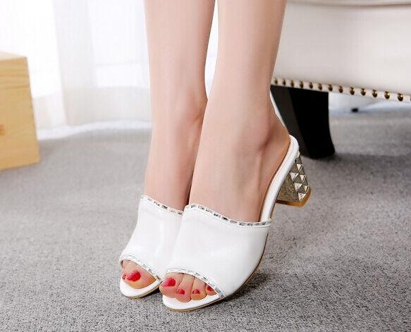 Sandalias Tacón Zapatos Sabot Zapatillas 5 Alto Cm Joya wPn0OkX8