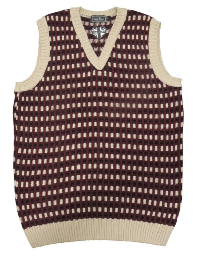 Mens Vintage style  1930/'s 40/'s WW2 Wartime  knit slip over Tank Top