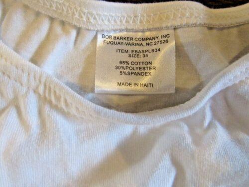 NEW Bob Barker /'EBASPLS34/' Sport Bra  Size 34  White