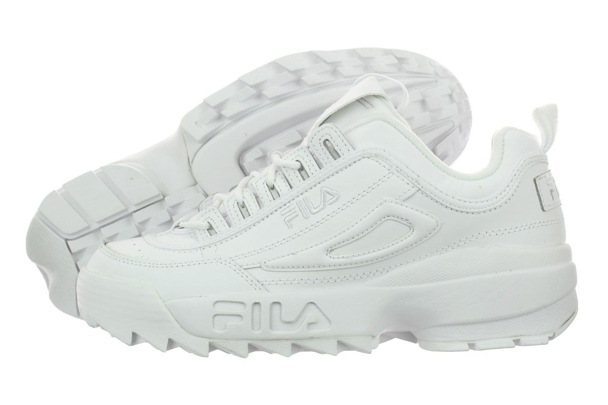 Homme Fila Disruptor II Synthetic Fw01655-148 Blanc Blanc Authentic Brand New