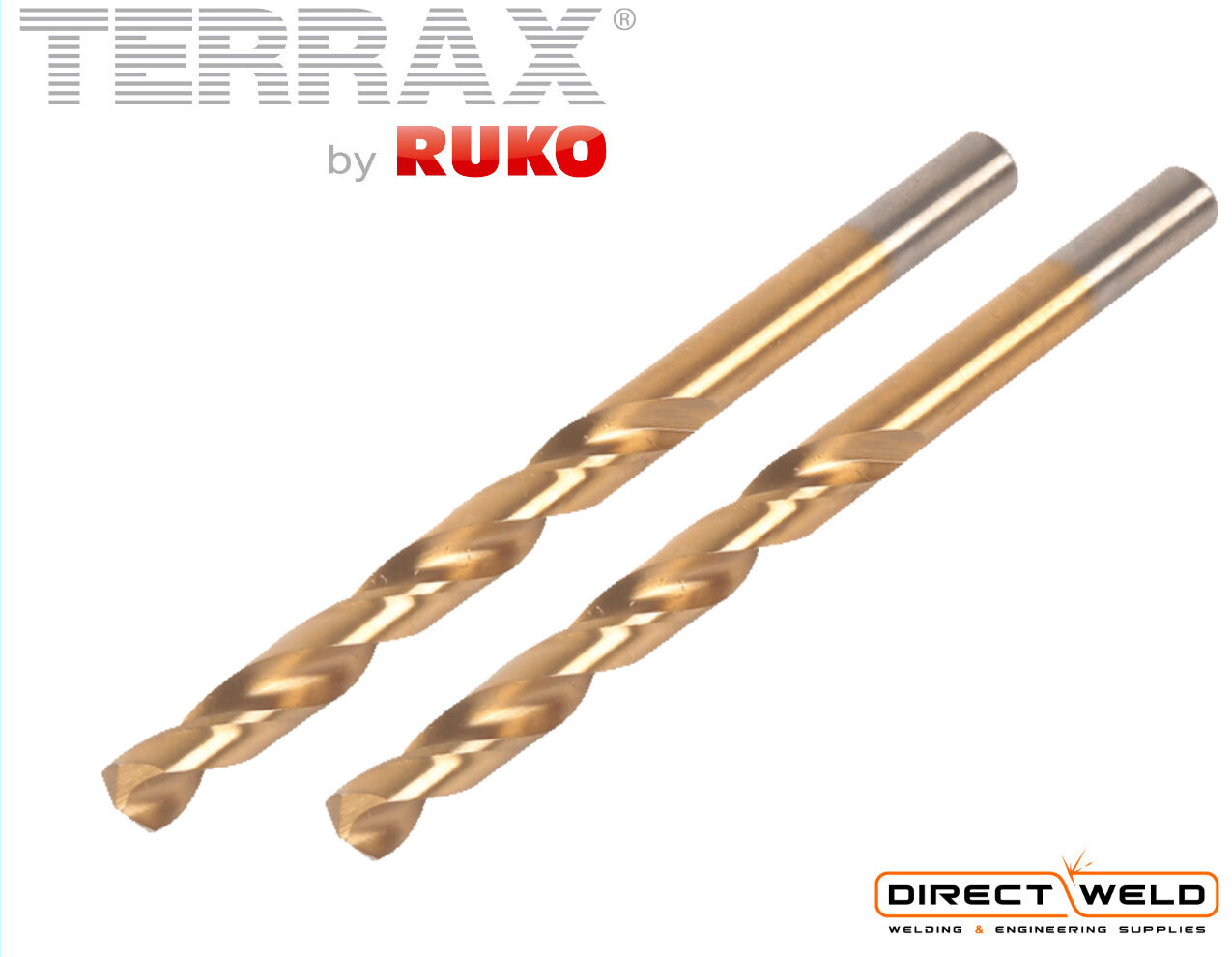 13.0mm HSS-G All Sizes from 1.0mm HIGH QUALITY RUKO Left Hand Drill Bits
