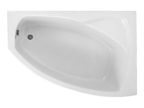 Badewanne Wanne Eckwanne Acryl 150x 100 cm Schürze Ablauf Silikon Acryl rechts F