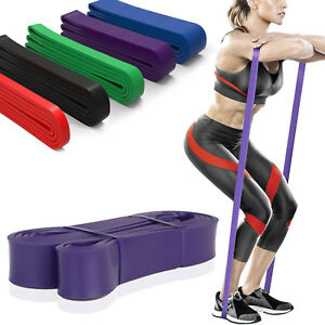 Extra-Durable-Top-Elastic-Workout-Exercise-Pull-Up-Assist-Bands-SINGLE-BAND-SET