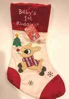 Baby's 1st Rudolph The Red Nosed Reindeer Christmas Stocking First 18